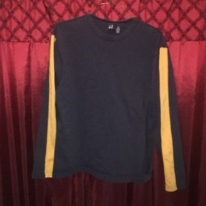 Gap blue and gold long/sleeved tee